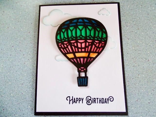 Birthday card - Hot Air Balloon