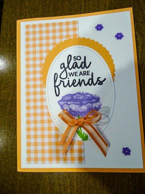 So glad we are friends card - orange